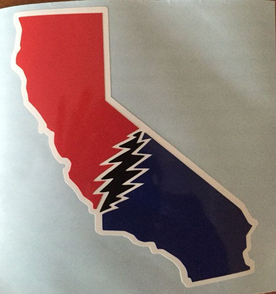 California Grateful Dead Vinyl Sticker by StickemandSwitchem