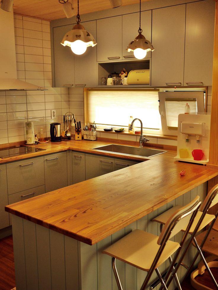 라임트리의 베스트셀러 리버앤 피스 키친입니다. 춘천의 신축주택에 입주한 원목싱크대 입니다. Material ash, pine, cedar, MD Finished oil, water varnish, eco-paint made by f.limetree
