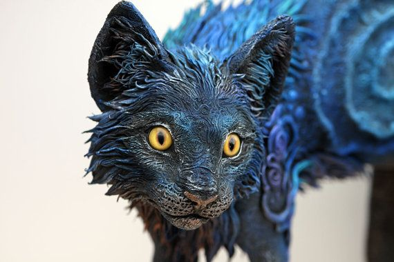 Life Size Cat Sculpture figurine kitty totem by DemiurgusDreams