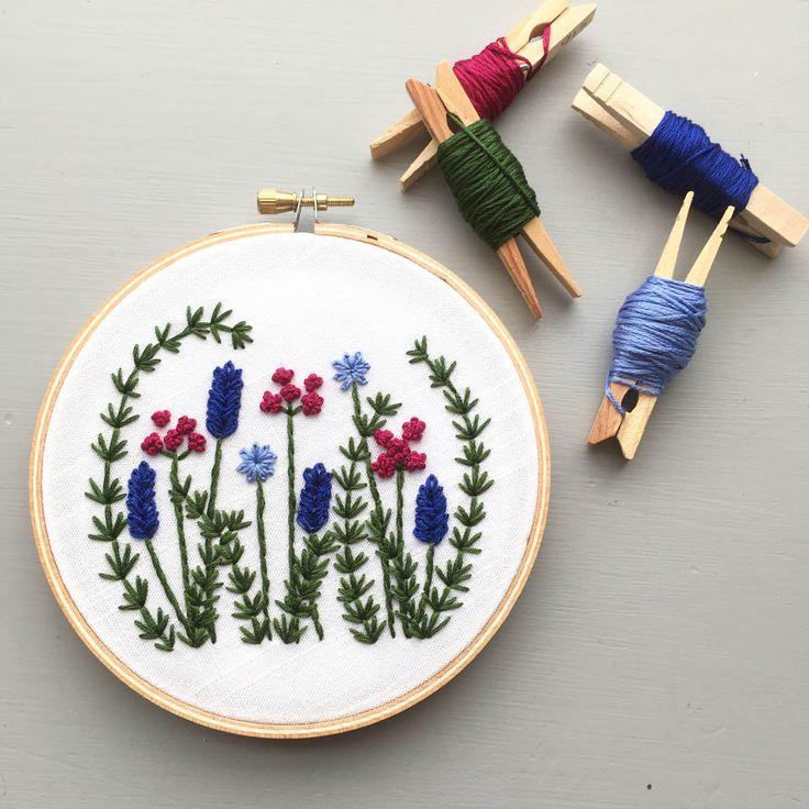 Hand Embroidery PDF Pattern – Wild Garden, Floral Design, DIY Hoop Art, Embroidered Flowers, Stitching, Instant Download, Jewel Tones – Rękodzieło