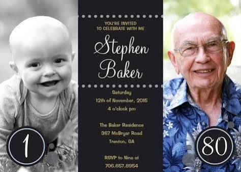 The 25+ best 80th birthday invitations ideas on Pinterest | 70th ...