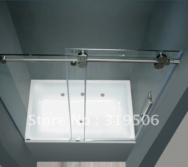 Incorporate some elegance into your bathroom with the unique design and shiny chrome finish on this frameless tub sliding door. The stainless steel construction hardware ensures the durability of this