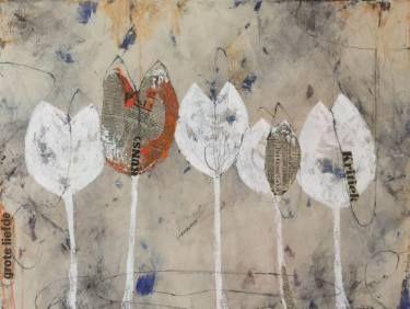 "Saatchi Art Artist Marleen Aldorf; Painting, ""Tulips with an edge"" #art"