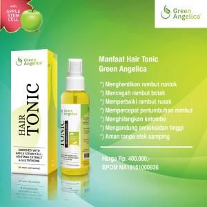 Green Angelica Hair Tonic / menumbuhkan rambut / mempercepat pertumbuhan rambut / menghentikan rontok / memperbaiki rambut rusak /…