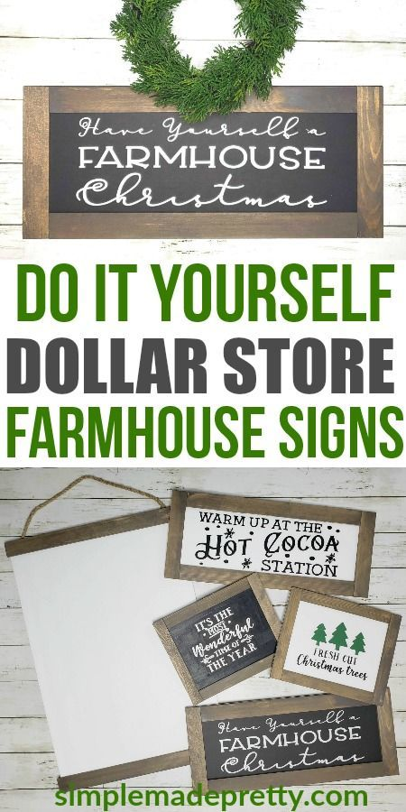 DIY Dollar Store Farmhouse Signs