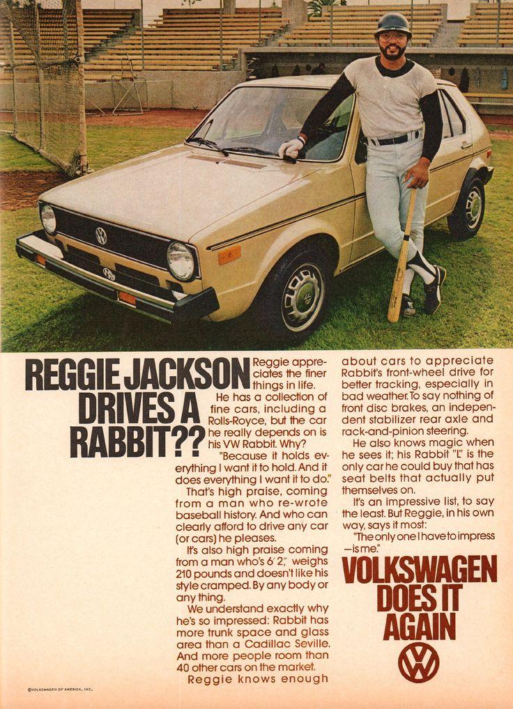 https://flic.kr/p/ZqMqA8 | 1978 Volkswagen Rabbit Advertisement with Reggie Jackson Playboy August 1978 | 1978 Volkswagen Rabbit Advertisement with Reggie Jackson Playboy August 1978