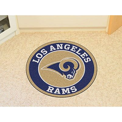 Fanmats NFL Los Angeles Rams and Navy Nylon Roundel Mat