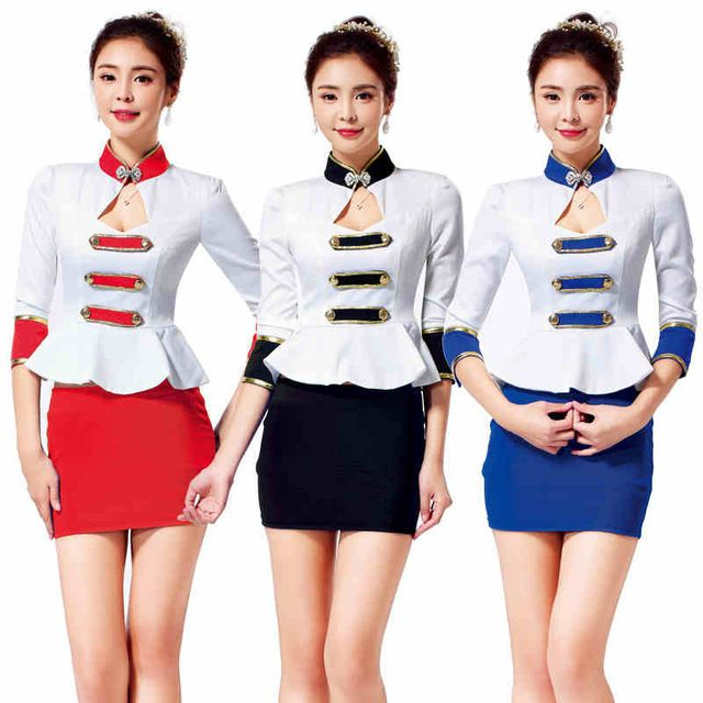 Work uniforms ladies skirts and office ladies on pinterest for Office design uniform