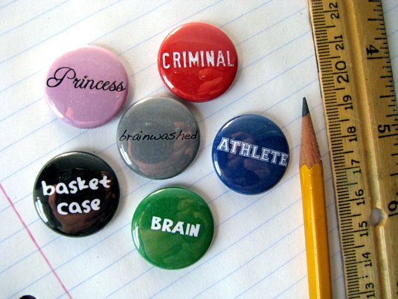 The Breakfast Club Magnets or Buttons set of 6 by cowboygoods, $5.25