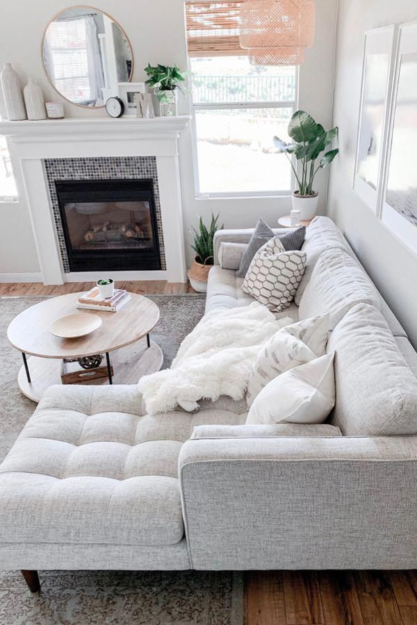 Ivory Right Sectional Sofa – Tufted | Article Sven Modern Furniture