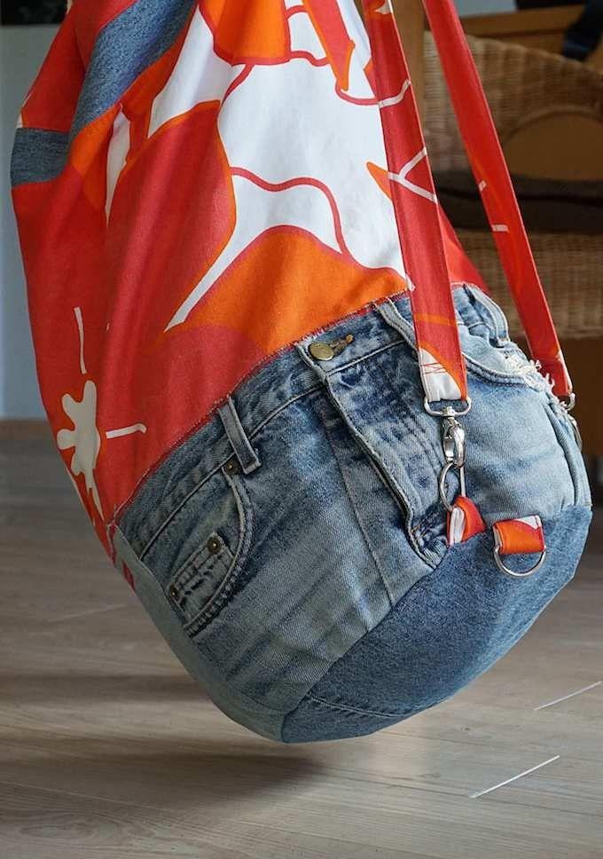 Alte Jeans zu neuen Taschen