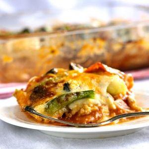 Turkey Zucchini Pizza Lasagna (GF & Low carb} - Food Faith Fitness