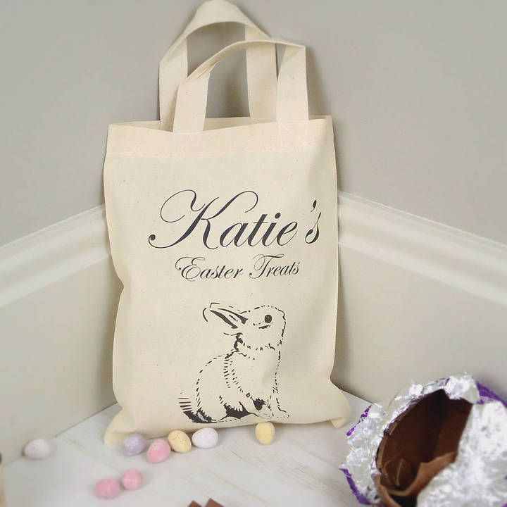 43 best personalised easter gifts images on pinterest are you interested in our personalised easter treat bag with our personalised bunny treat bag for easter you need look no further negle Gallery