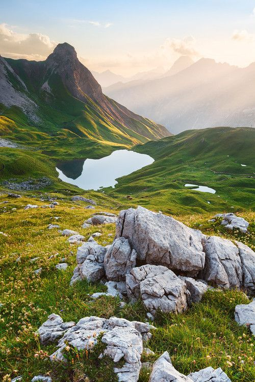 I want to go to this place and just sit on that rock and look at the mountains. (Rappensee Lake, Germany)