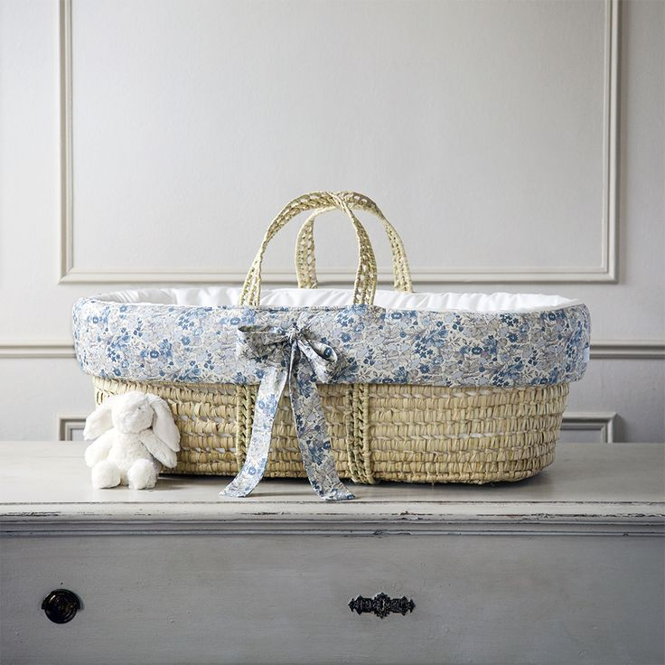 Luxury Moses Basket In Liberty Print