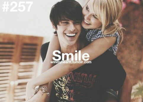Smiles can say one thing: that you are happy with me. Other faces can mean over a million different things <3