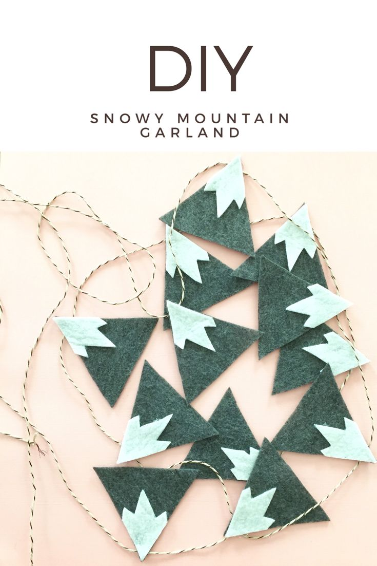 465 best holidays images on pinterest bricolage diys and do it diy felt snowy mountain garland solutioingenieria Image collections