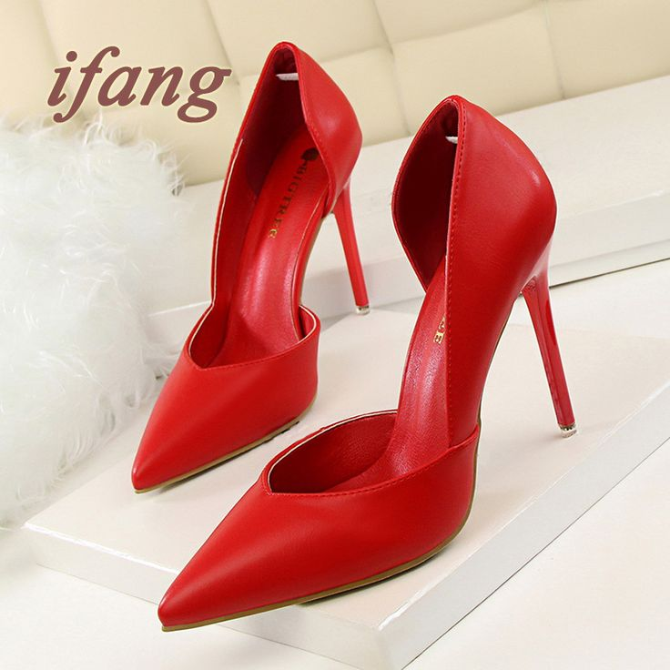 ifang 2016 Bridal Women Pumps Red High Heel Wedding Heels Victoria Shoes Woman Two-Piece Pumps Party Women's Shoes
