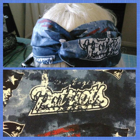 hipster headband  New England Patriots by SweetCherryPie23 on Etsy, $5.00