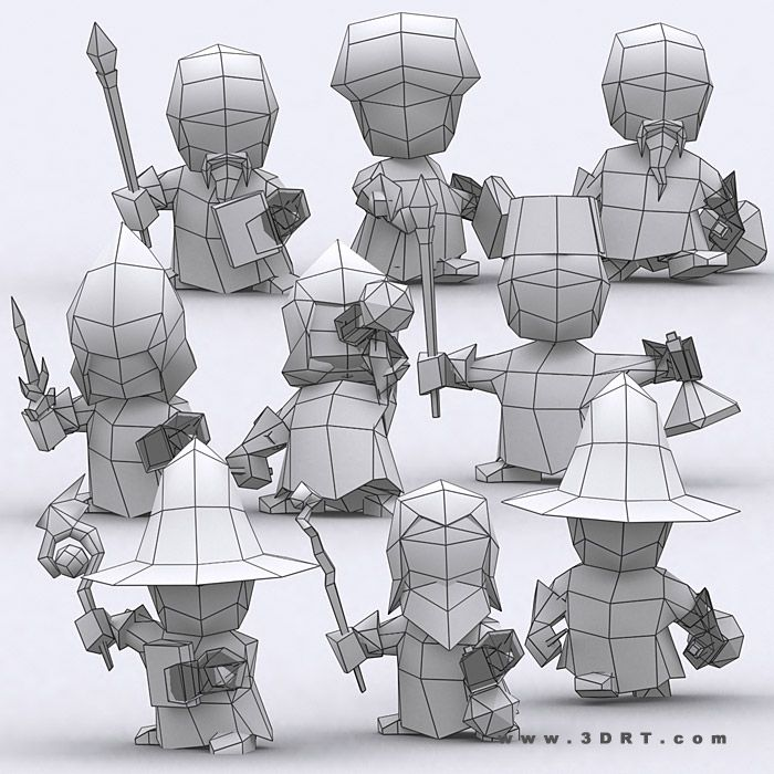 Characters :: Fantasy characters :: Chibi realm characters bundle