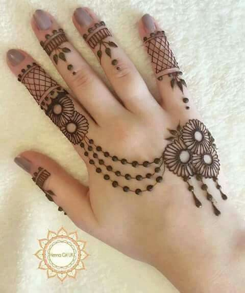 Floral mehndi design                                                                                                                                                      More