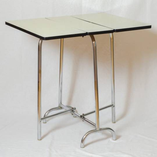 Gallery of table pliante en formica vintage petite table - Petite table ronde pliante ...