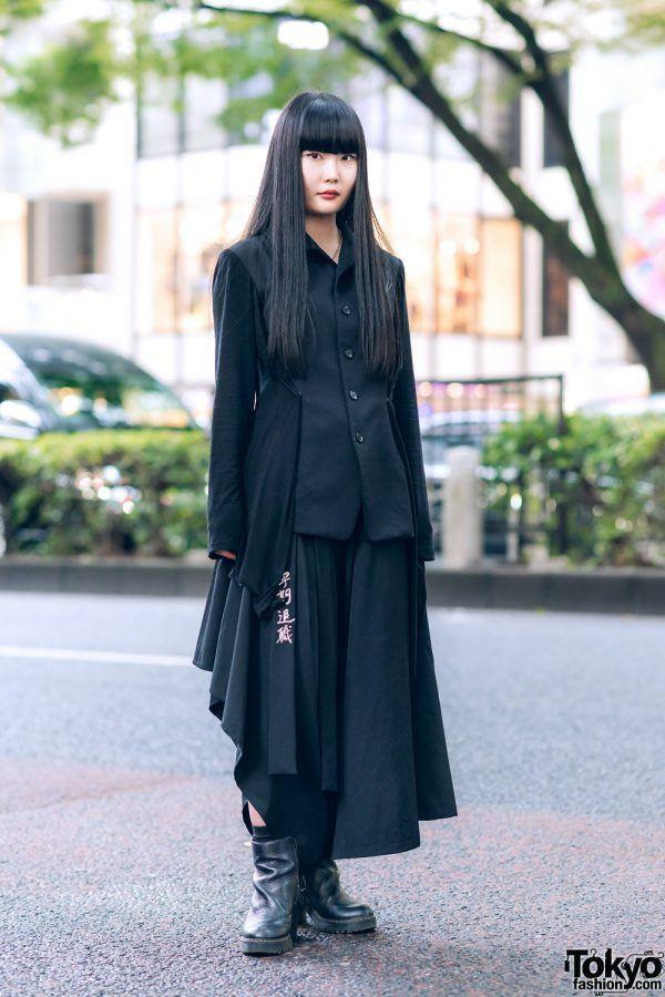 Yohji Yamamoto Minimalist Monochrome Street Style …