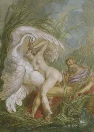 Leda and the Swan, from Histoire Universelle, 1740's  Charles-Antoine Coypel