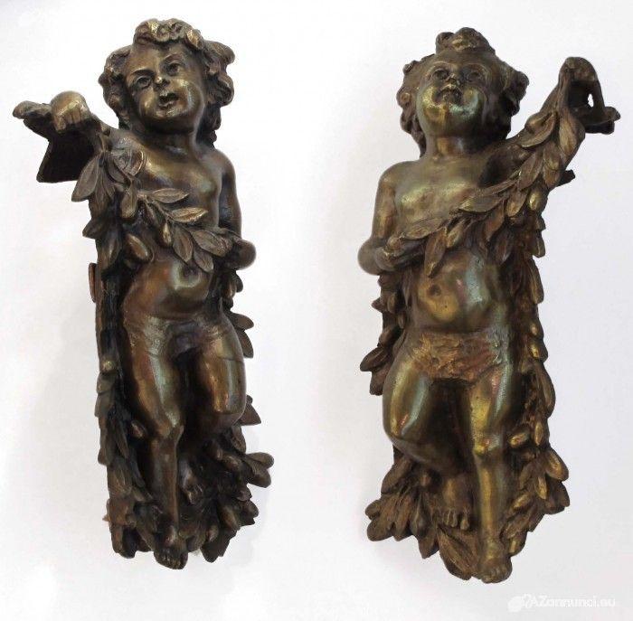 Putti in fusione di bronzo