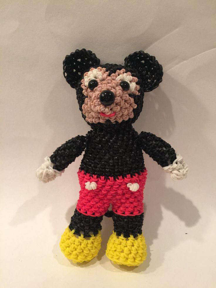 Rainbow Loom Amigurumi Mouse : 17 Best ideas about Rainbow Loom Disney on Pinterest ...