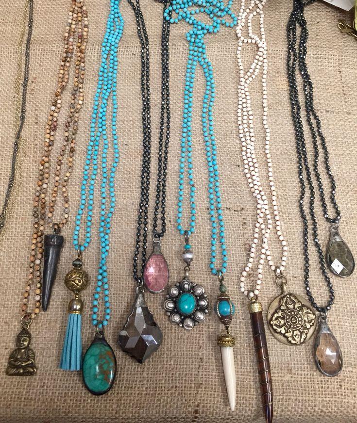 Beaded necklaces with pendants Lisajilljewelry@gmail.com