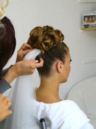 High updo and veil - Wedding Hair photos. 1000s of bridal hair styles - Love Hair