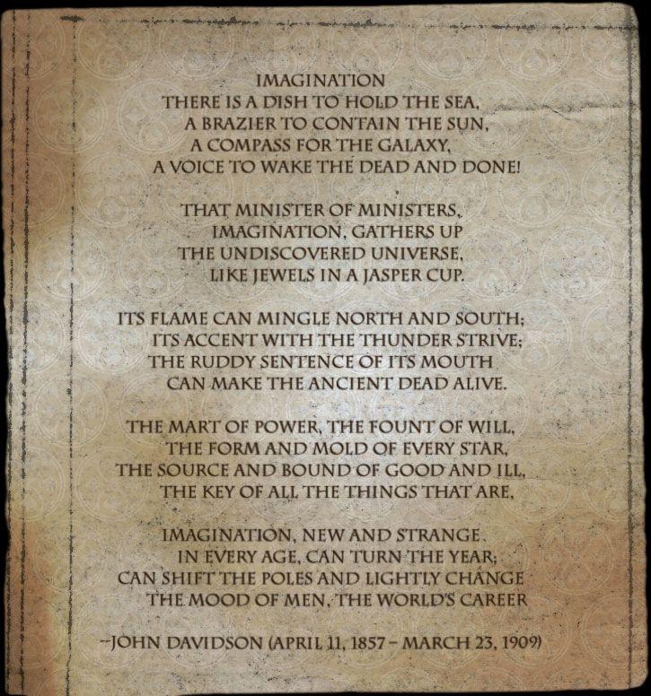 """Poem - """"Imagination"""" - John Davidson   Hail, Poetry ..."""