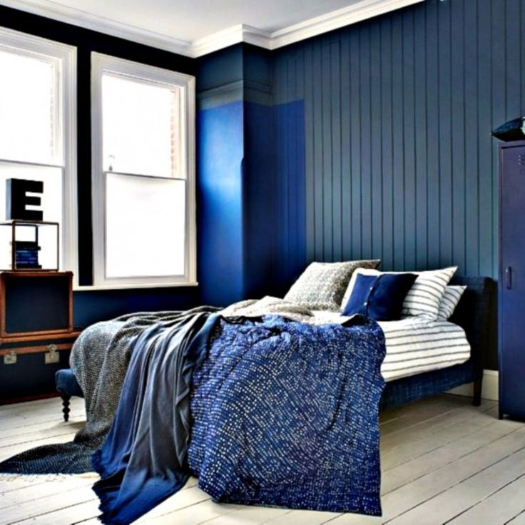 Blue Black And White Bedroom Decor