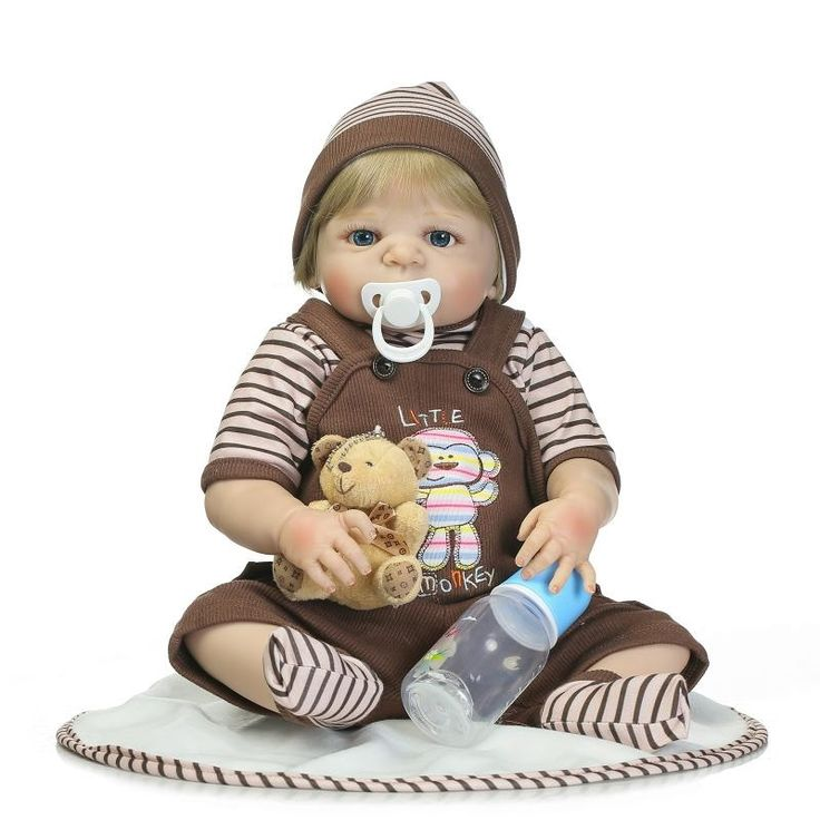 83.28$  Buy here - http://aitx1.worlditems.win/all/product.php?id=32798961528 - New Arrival 56cm Soft Silicone Reborn Dolls Lifelike 22 inch Full Vinyl Reborn Dolls For Sales Boneca Reborn Child Girls Toys
