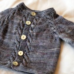 KNIT this classic baby cardi with a *free* pattern and hand-dyed sock yarn.  What mom-to-be wouldn't love that?