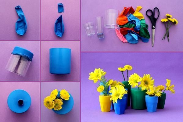 Vases, pots plantes Creative and Colorful Balloon Bud Vases