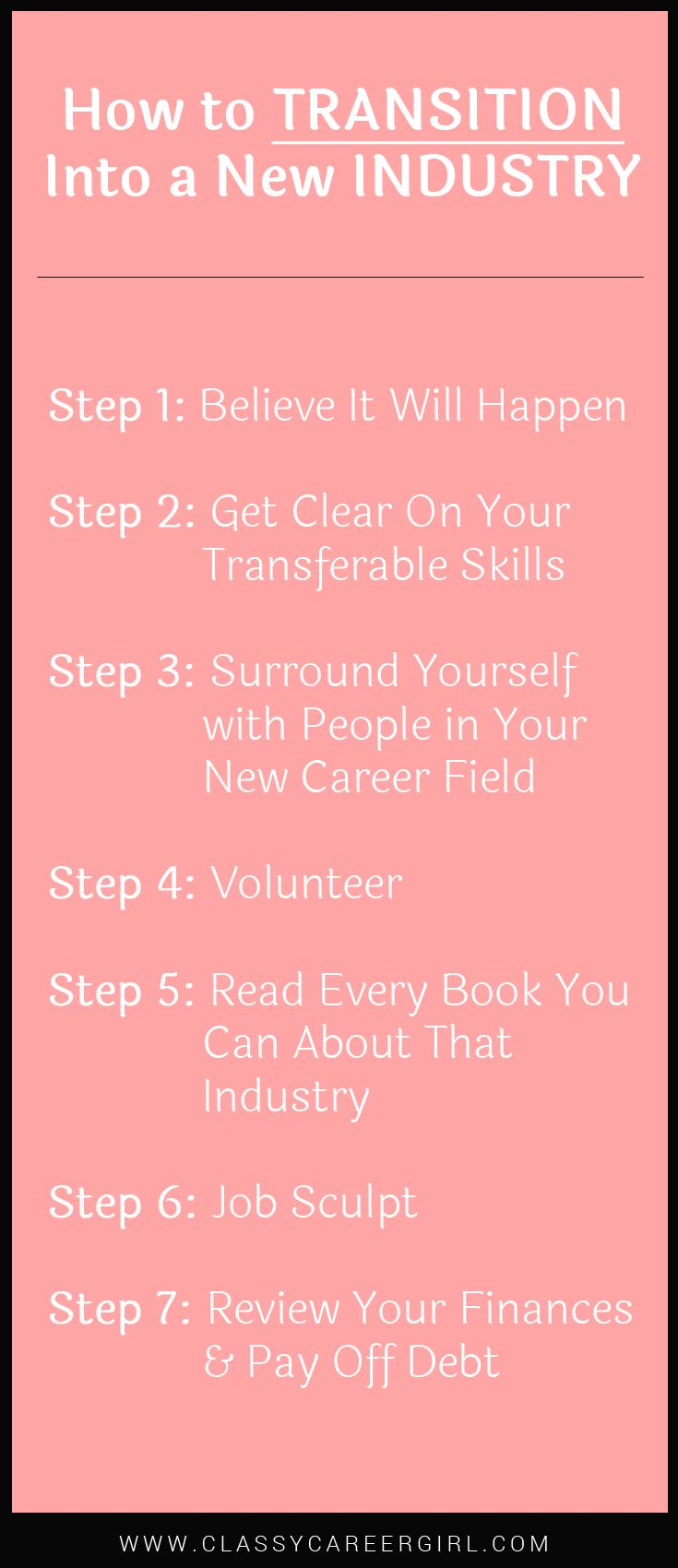 25 best for students images on pinterest school gym and learning how to transition into a new industry list fandeluxe Image collections