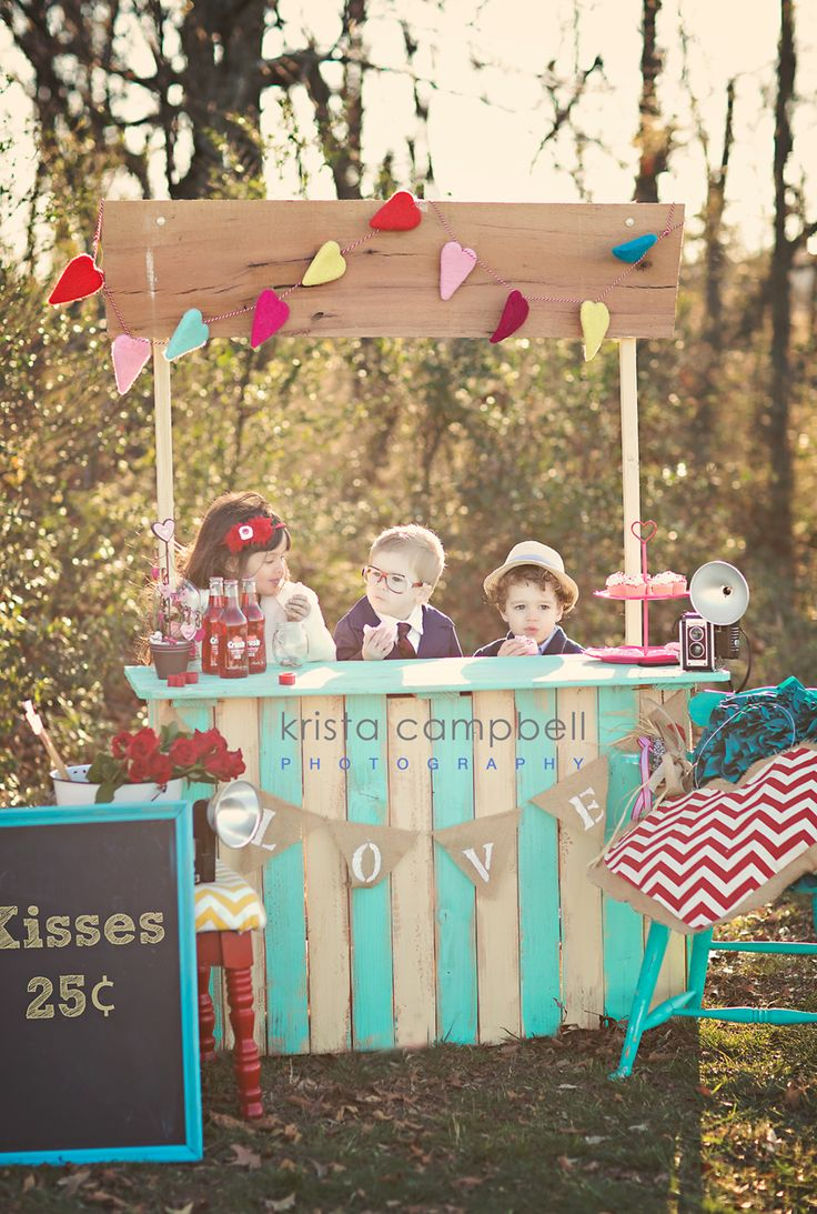Creating a Valentine's Day booth by  Krista Campbell