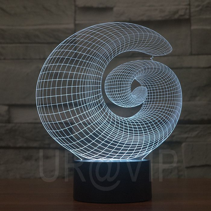JC-2871 Magical 3D Optical Illusion LED Table Lamp Lighting Novelty