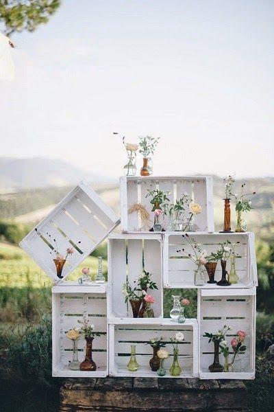 Las cajas de fruta son los más entre los adictos a las bodas DIY. ¡Descubre el por qué! ;)