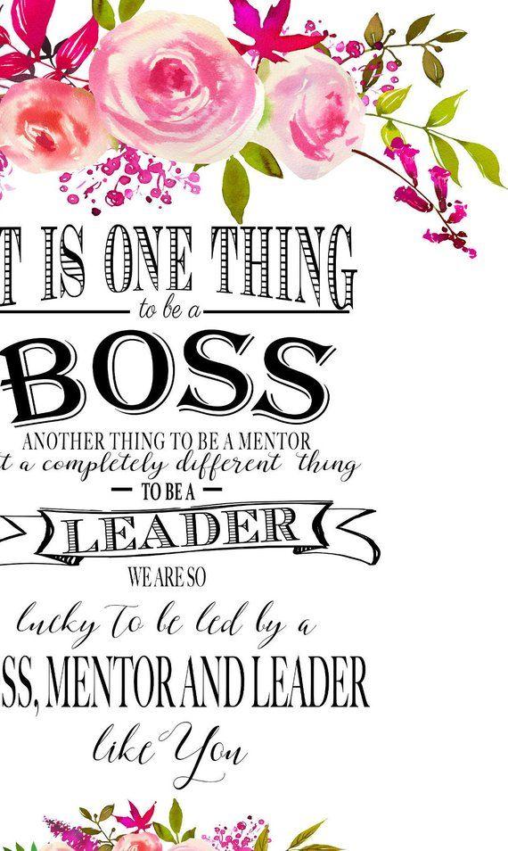 Printable Boss Appreciation Day Gift Boss Week Boss Card Boss