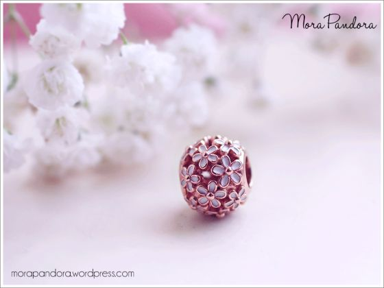 charmes pandora marguerite rose