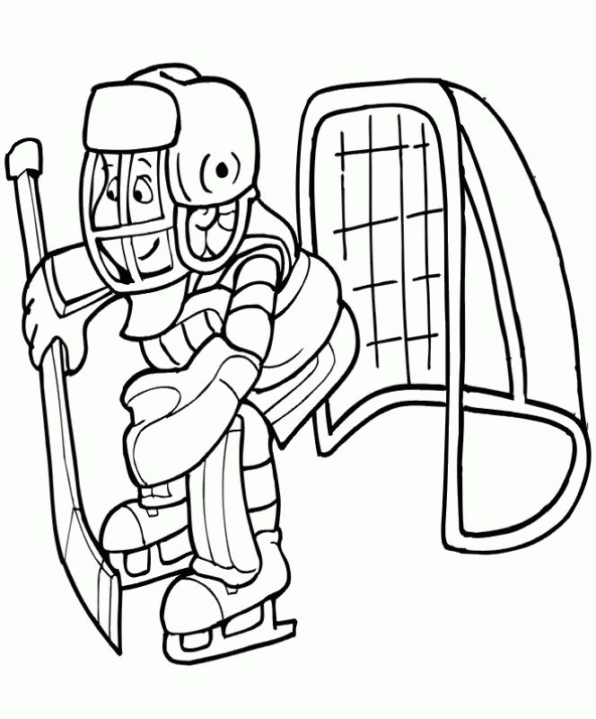 online coloring pages of hockey for kids