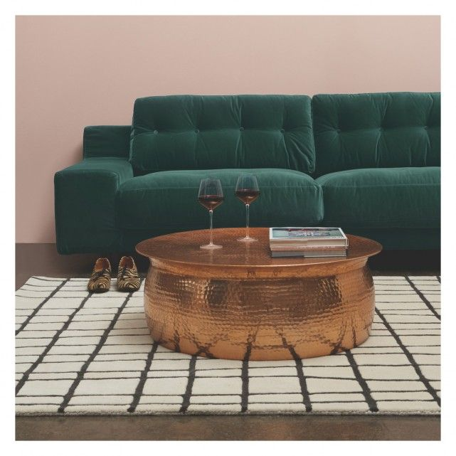 ORRICO Rose gold hammered aluminium coffee table | Buy now at Habitat UK