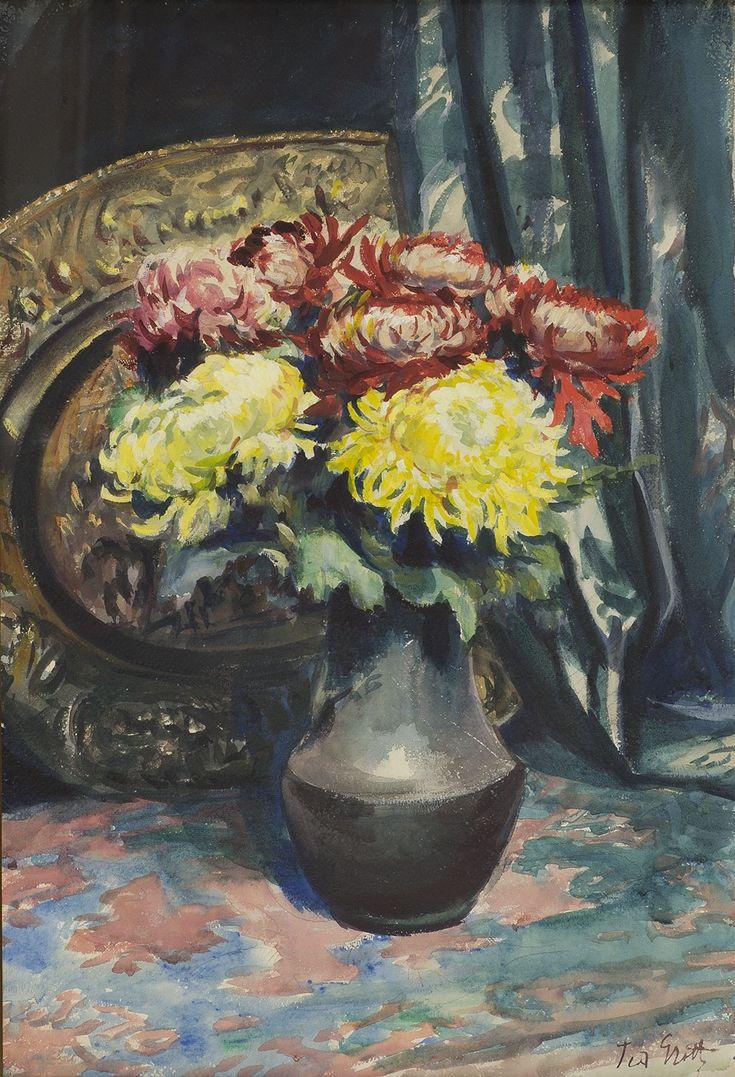 Kwiaty w wazonie Teodor GROTT
