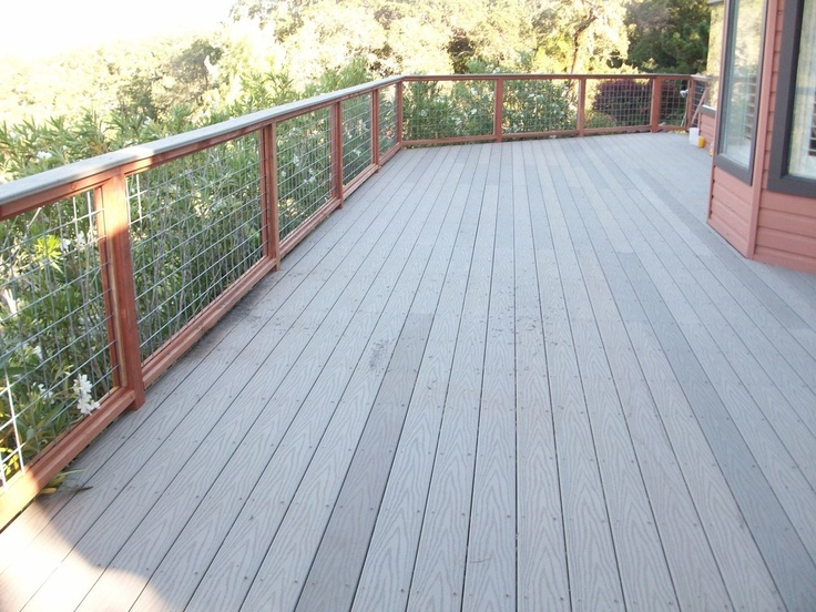 Grey composite decking by arbor fence inc decks for Grey composite decking