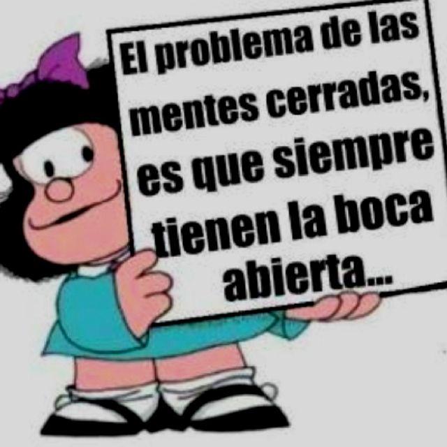 Mafalda y las mentes cerradas....