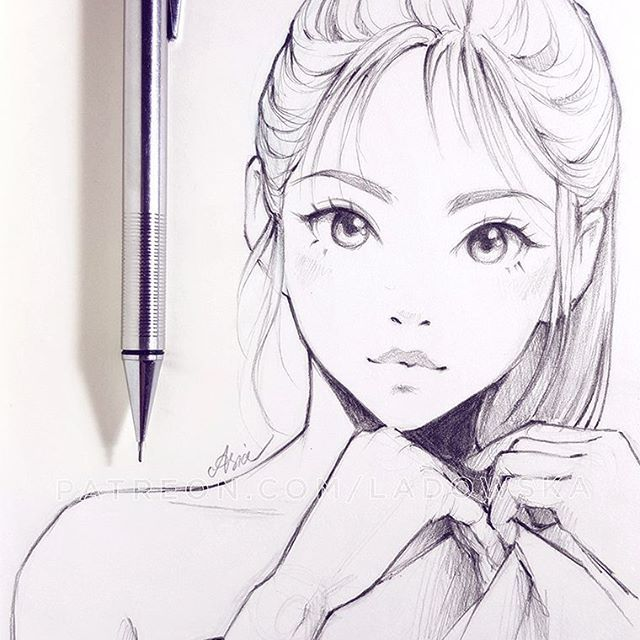sketch ✏  I wonder… How many of you draw too? I am thinking to make an art contest so let me know if you draw too in comments and if you'd be interested!  _  patreon.com/Ladowska