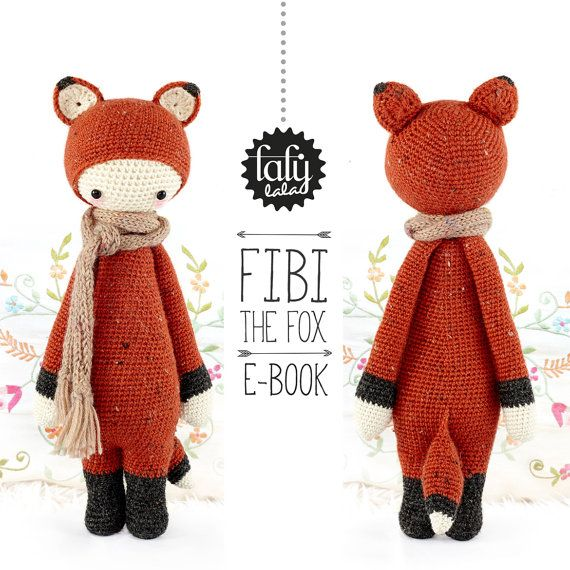 Crochet Pattern Doll FIBI the fox PDF by lalylala on Etsy, €5.50